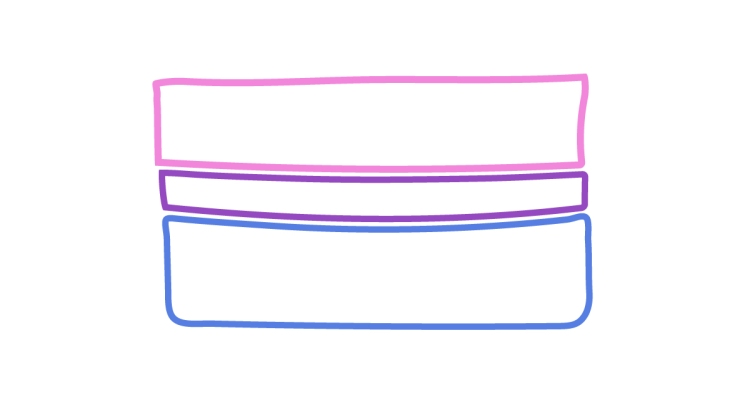 An illustration features a bisexual pride flag.