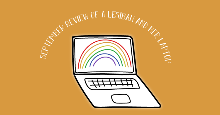 The blog logo includes a title. September review of a lesbian and her laptop.