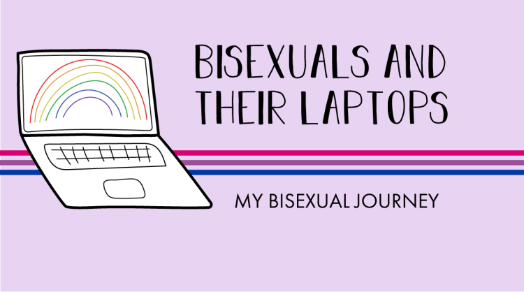 The AL&HL logo includes the following title. Bisexuals and their laptops: My bisexual journey.
